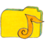 64x64px size png icon of Osd folder y music