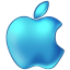 64x64px size png icon of Apple Blue