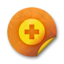 64x64px size png icon of Orange sticker badges 038