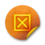 64x64px size png icon of Orange sticker badges 045