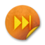 64x64px size png icon of Orange sticker badges 058
