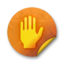 64x64px size png icon of Orange sticker badges 070