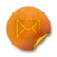 64x64px size png icon of Orange sticker badges 076
