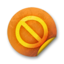 64x64px size png icon of Orange sticker badges 080