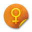 64x64px size png icon of Orange sticker badges 082