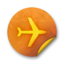 64x64px size png icon of Orange sticker badges 291
