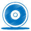 64x64px size png icon of blue cd
