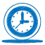 64x64px size png icon of blue clock