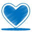 64x64px size png icon of blue heart