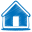 64x64px size png icon of blue home