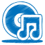 64x64px size png icon of blue music cd