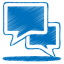 64x64px size png icon of blue talk