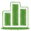 64x64px size png icon of green chart