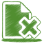 64x64px size png icon of green document cross
