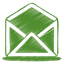 64x64px size png icon of green mail open