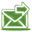 64x64px size png icon of green mail send