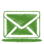 64x64px size png icon of green mail