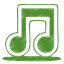 64x64px size png icon of green music