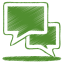 64x64px size png icon of green talk