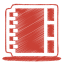64x64px size png icon of red address book
