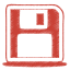 64x64px size png icon of red disk
