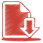 64x64px size png icon of red document download
