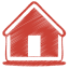 64x64px size png icon of red home