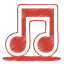 64x64px size png icon of red music