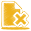 64x64px size png icon of yellow document cross