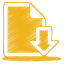 64x64px size png icon of yellow document download