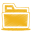 64x64px size png icon of yellow folder