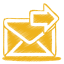 64x64px size png icon of yellow mail send