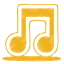 64x64px size png icon of yellow music