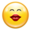 64x64px size png icon of Emotes face kiss