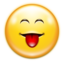 64x64px size png icon of Emotes face raspberry