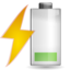64x64px size png icon of Status battery charging caution