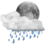 64x64px size png icon of Status weather showers night
