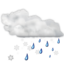 64x64px size png icon of Status weather snow rain