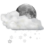 64x64px size png icon of Status weather snow scattered night