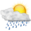 64x64px size png icon of Status weather showers day