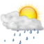 64x64px size png icon of Status weather showers scattered day