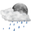 64x64px size png icon of Status weather showers scattered night