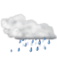 64x64px size png icon of Status weather showers scattered