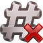 64x64px size png icon of actions irc close channel