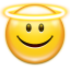 64x64px size png icon of emotes face angel