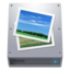 64x64px size png icon of Disk HDD Pictures