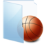 64x64px size png icon of Folder Blue Games