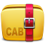 64x64px size png icon of Folder Archive cab