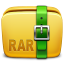 64x64px size png icon of Folder Archive rar