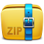 64x64px size png icon of Folder Archive zip